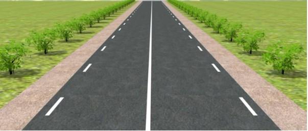 прерывистая линия по краям дороги